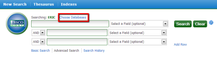 "screenshot showing the location of the ""Choose Databases"" option"