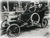 Madame C.J. Walker driving automobile