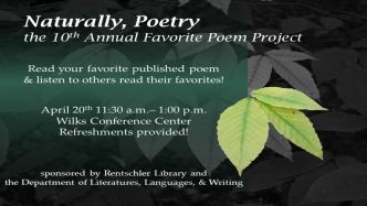 Poetry reading event April 20 2017