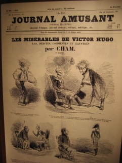 front page of French magazine featuring Les Miserables