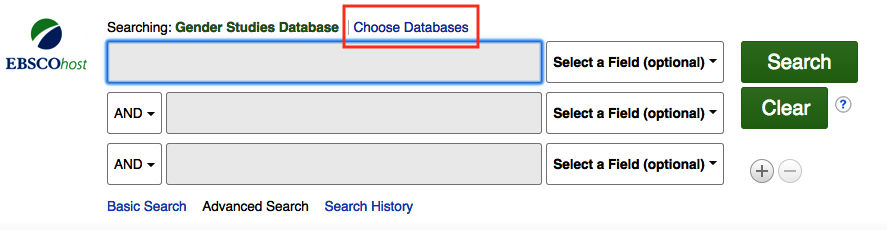 Choose Databases link