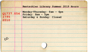 card catalog of library hours