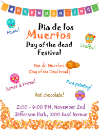 flier for Day of the Dead event